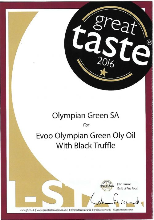 Evoo Olympian Green Oly Oil With Black Truffle